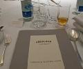 La table et le menu de l'Aberlour Hunting Club 2011