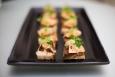 Foie gras de canard poêlé, chutney de raisin au verjus et noix du Périgord et 1664 Millésime 2016