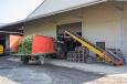 Le hangar de traitement et de stockage du houblon