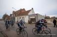 Ambiance belge devant la brasserie