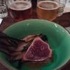Tataki de thon et son radicchio, Pride of Texas et Dale's Pale Ale
