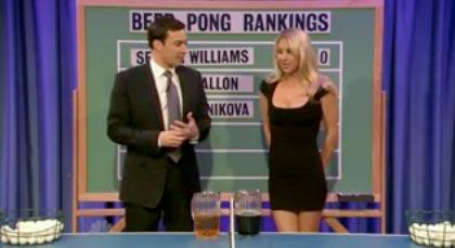 Anna Kournikova se met au ping pong… bière !