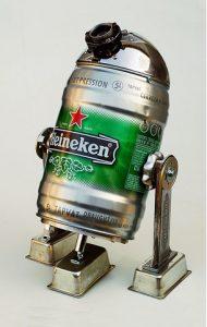 Un fan de Star Wars et de bière en fût briocoleur créatif