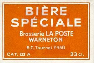 La bière de La Poste de Warneton