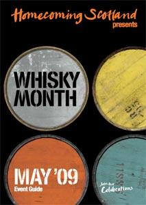 L'affiche du Whisky Month en Ecosse