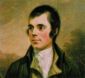 Robert Burns. Portrait par Alexander Nasmyth (1787)