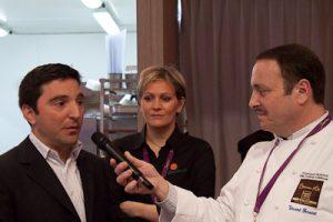 Michele Rubinelli présente la Pilsner Urquell (avec Céline Bertin et Vincent Ferniot)