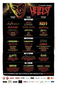 L'affiche du Hellfest 2010