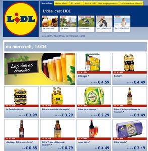 Lidl promotions sur les bières