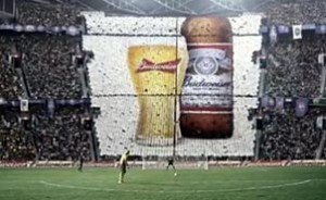 Pub Budweiser pour la Coupe du Monde