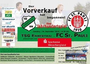 L'affiche du match Emmerthal - St Pauli