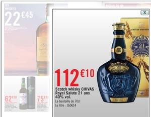 Promo whisky Géant Casino