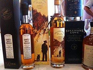 Dégustation de whiskies de Tasmanie