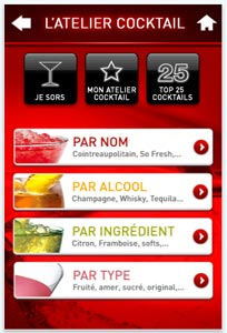 L'Atelier Cocktail pour iPhone