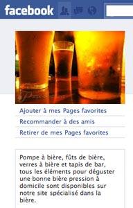 La page Facebook de Pompe-à-Bière
