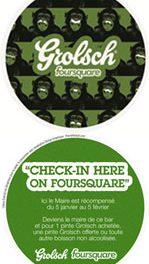 Grolsch en promo 2.0 à Paris avec Foursquare