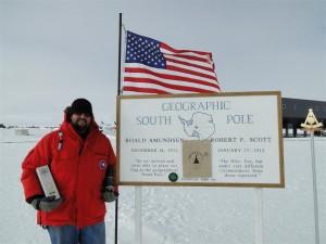 Thomas Da Cosse au Pôle Sud géographique avec son Glendronach