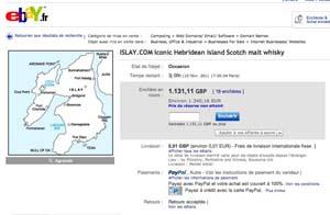 Islay.com en vente sur eBay