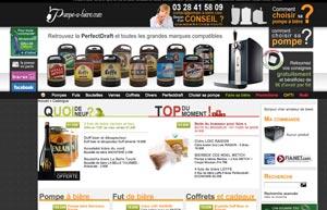Le site Pompe-a-bière.com