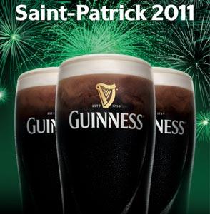 Saint Patrick 2011 avec Guinness