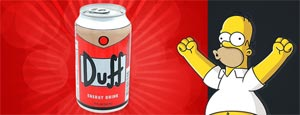 Quand la Duff joue les boissons énergisantes !