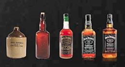 Evolution de la bouteille de Jack Daniel's
