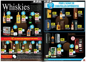 Whiskies en promo chez Auchan