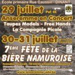 7e Fête de la Bière Namuroise le WE prochain