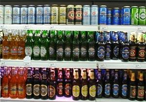 Bières de la brasserie russe Baltika ©Barry Kent