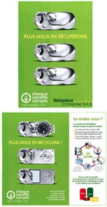 Campagne pour le recyclage des canettes