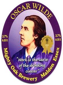 Etiquette de la bière Oscar Wilde