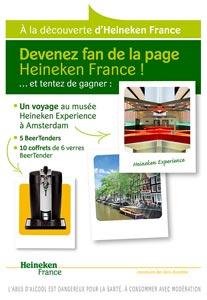 A la découverte d'Heineken France, le jeu concours sur Facebook