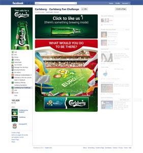 La Fan page de Carlsberg sur Facebook