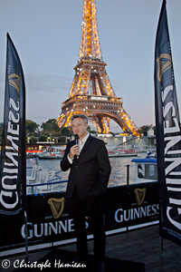 Hervé Bourc'His, Dir Cial CHD Kronenbourg présentant le Arthur Guinness Day