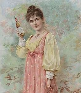 « L'hôtesse » Publicité de 1892 pour la Budweiser américaine.