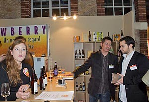 Cécile Delorme de Brewberry avec Edouard Cointreau au Festival du Livre Culinaire