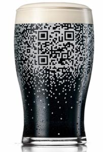 Verre QR code Guinness