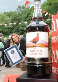 9.120 drams de whisky Famous Grouse !