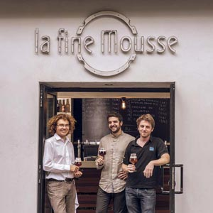 La Fine Mousse et ses 3 gérants ©Alexandremartin.fr