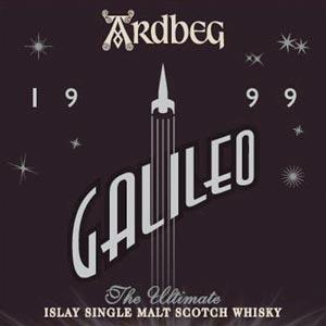 L'étiquette de l'Ardbeg Galileo