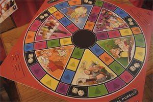 Le plateau de jeu du Trivial Pursuit bière