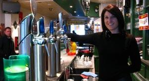 La bière pression dans les bars