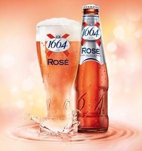 La nouvelle bière 1664 Rosé