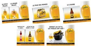 Campagne d'affichage bière Ch'ti