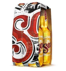 Pack de 4 bouteilles de bières Sol