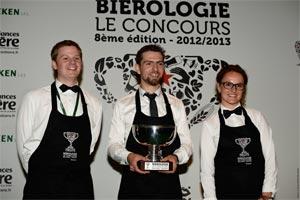 Le podium du Concours de Bièrologie 2013 ©Concours de biérologie Heineken