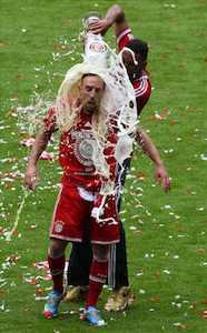 Ribery douché à la Weissbier Paulaner