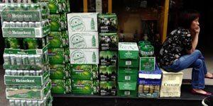 packs de bière