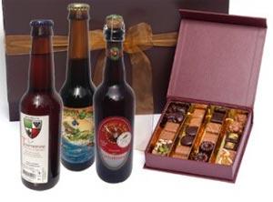 Coffret bières et chocolats, belle idée cadeau
