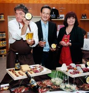 Jean-Yves Bordier, François Quellec (Directeur de la brasserie), Elisabeth Pierre